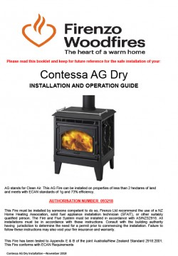 Contessa AG Dry Installation And Operation Guide