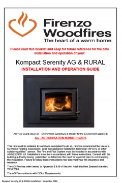 Kompact Serenity  AG & Rural Installation And Operation Guide