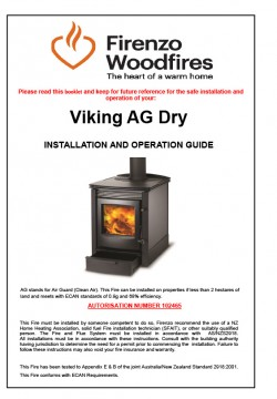 Viking AG Dry Installation And Operation Guide
